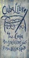 Cuba Libre Blue Fine Art Print