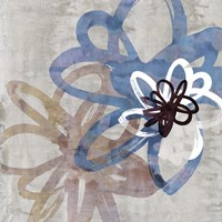 Scribbled Floral II Fine Art Print