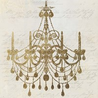 Golden Chandelier II Fine Art Print