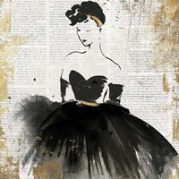 Lady in Black I Fine Art Print