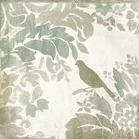 Damask Bird II Framed Print