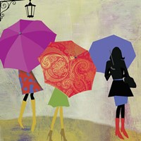 Umbrella Girls Fine Art Print