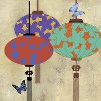 Butterfly Lanterns Fine Art Print