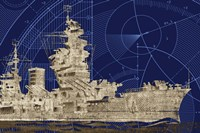 Blueprint Submarine I Fine Art Print