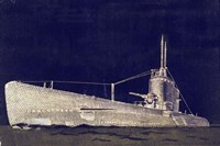 Blueprint Submarine II Fine Art Print