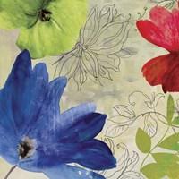 Indigo Flower I Framed Print