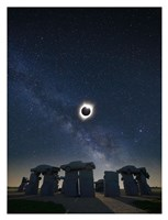 Eclipse at Carhenge Fine Art Print