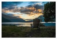 Crescent Lake Chair Fine Art Print