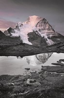 Mount Robson BW with Color Fine Art Print