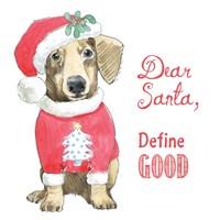 Glamour Pups Christmas III Dear Santa Fine Art Print