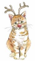Christmas Kitties III Fine Art Print