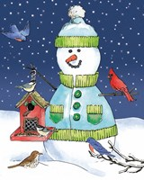 Lodge Snowmen II Fine Art Print