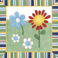 Americana Garden II With Border Fine Art Print