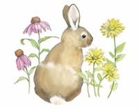 Wildflower Bunnies I Framed Print