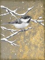 Winter Birds Chicadee Neutral Fine Art Print