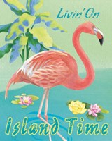 Island Time Flamingo II Fine Art Print
