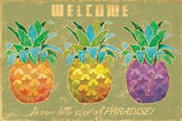 Island Time Pineapples Welcome Fine Art Print