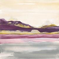 Purple Rock Dawn II Gold Fine Art Print