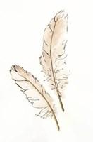 Gold Feathers I Fine Art Print