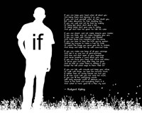 If by Rudyard Kipling - Man Silhouette Black Fine Art Print
