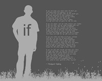 If by Rudyard Kipling - Man Silhouette Gray Fine Art Print