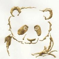 Gilded Panda Framed Print