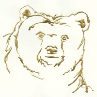 Gilded Brown Bear Fine Art Print