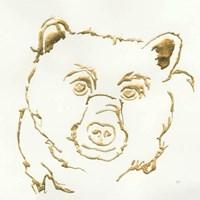 Gilded Black Bear Fine Art Print