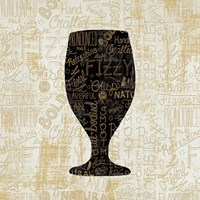 Cheers for Beers Goblet Fine Art Print