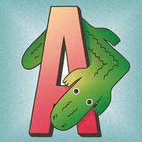 A is for Alligator Fine Art Print