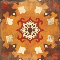 Moroccan Tiles Spice III Fine Art Print