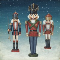 Soldier Nutcrackers Snow Framed Print
