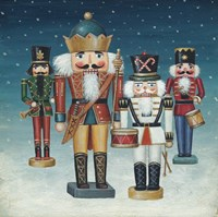 King Nutcrackers Snow Framed Print