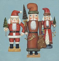 Santa Nutcrackers Framed Print