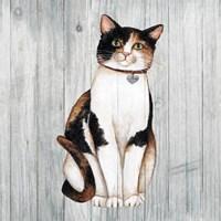 Country Kitty III on Wood Fine Art Print