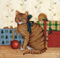 Christmas Kitty II Fine Art Print