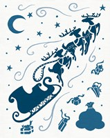 Christmas Otomi Tile II Framed Print