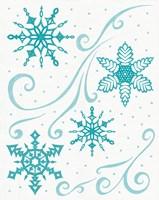 Christmas Otomi Tile I Fine Art Print