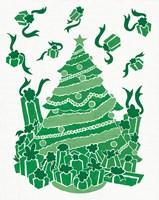 Christmas Otomi Tile IV Framed Print
