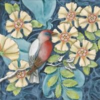 Arts and Crafts Bird I Fine Art Print