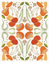 Retro Mushroom Otomi Fine Art Print