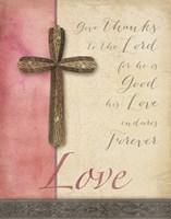 Words for Worship Love Framed Print