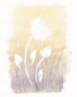 Floral Silhouette I Fine Art Print