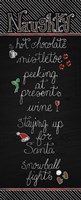 Christmas Chalkboard Naughty Fine Art Print