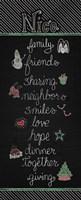 Christmas Chalkboard Nice Fine Art Print