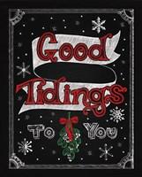 Christmas Chalkboard IV Fine Art Print