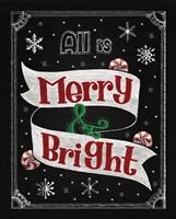 Christmas Chalkboard II Fine Art Print