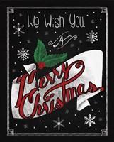 Christmas Chalkboard I Fine Art Print