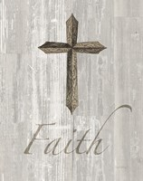 Words for Worship Faith on Wood Fine Art Print