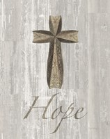 Words for Worship Hope on Wood Framed Print
